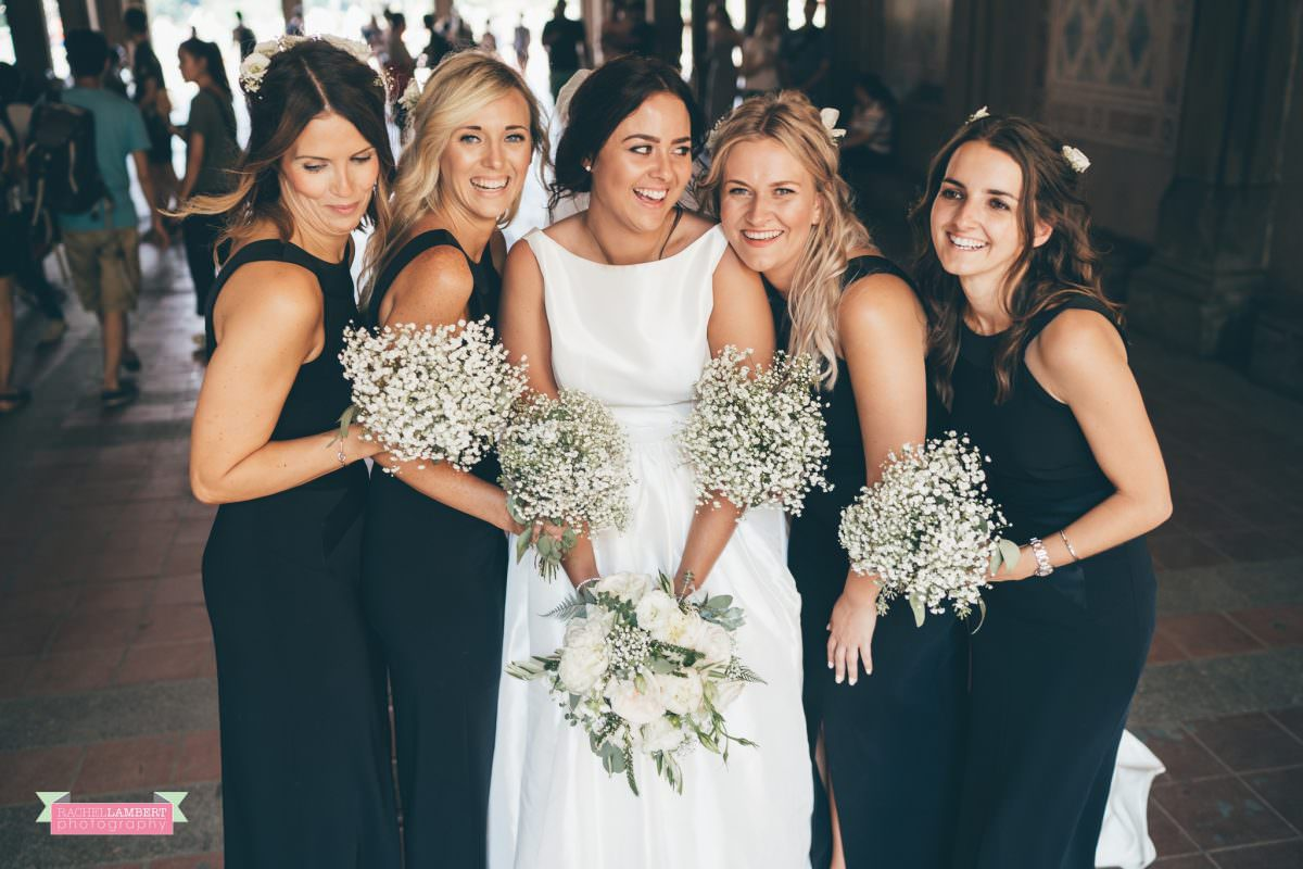 rachel lambert photography new york wedding photos bride and groom bethesda terrace bridesmaids