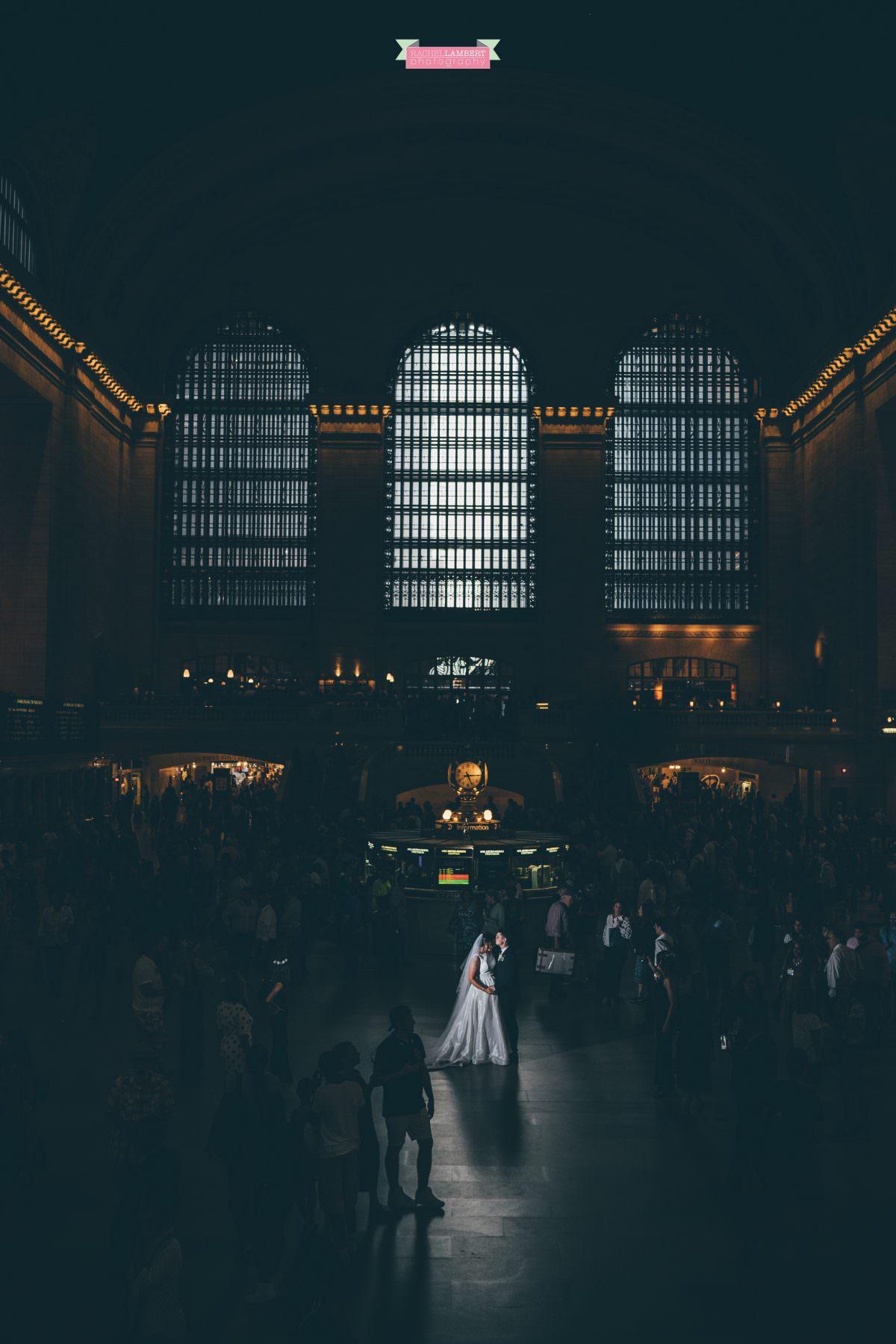 rachel lambert photography new york wedding photos bride and groom grand central station