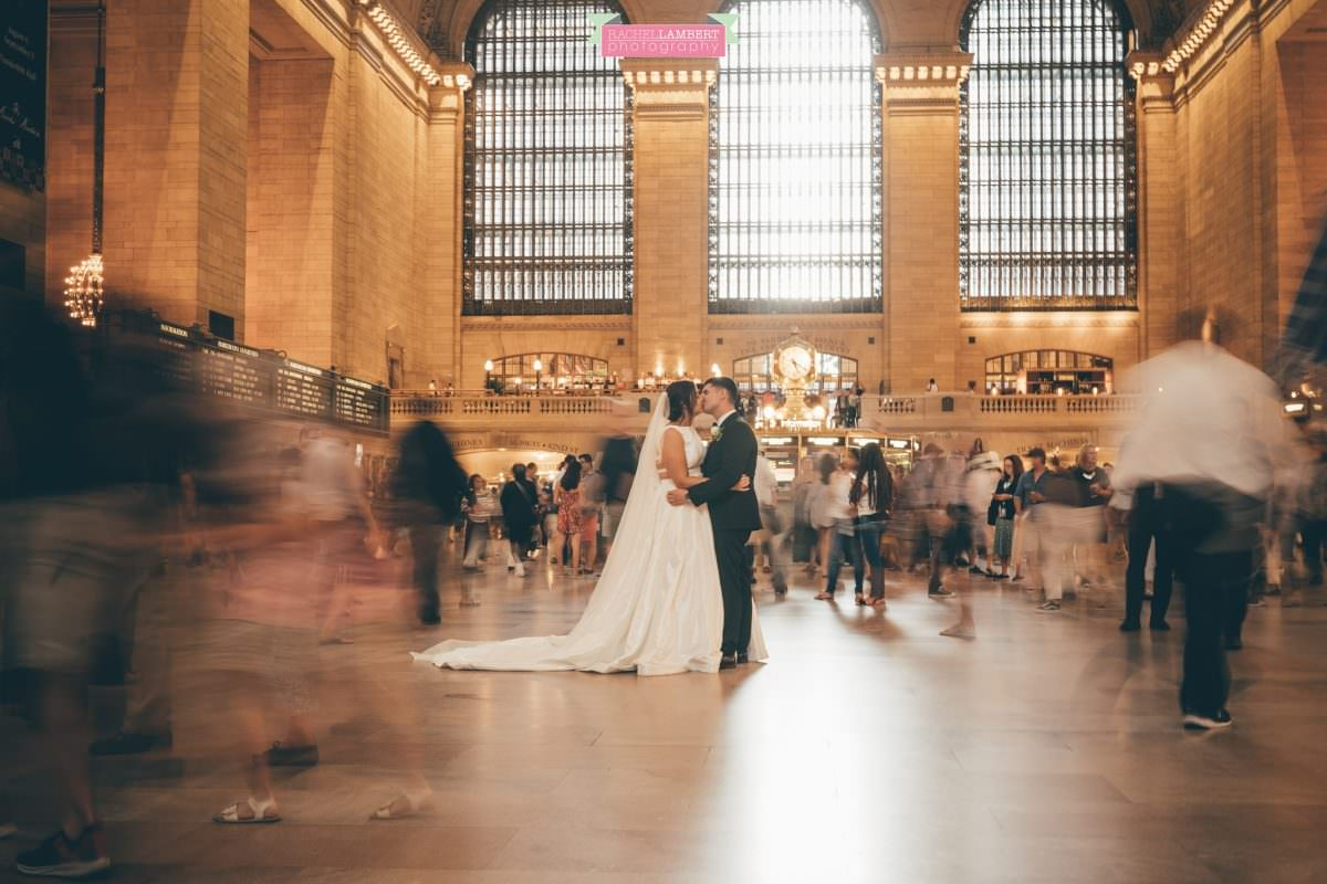 rachel lambert photography new york wedding photos bride and groom grand central station