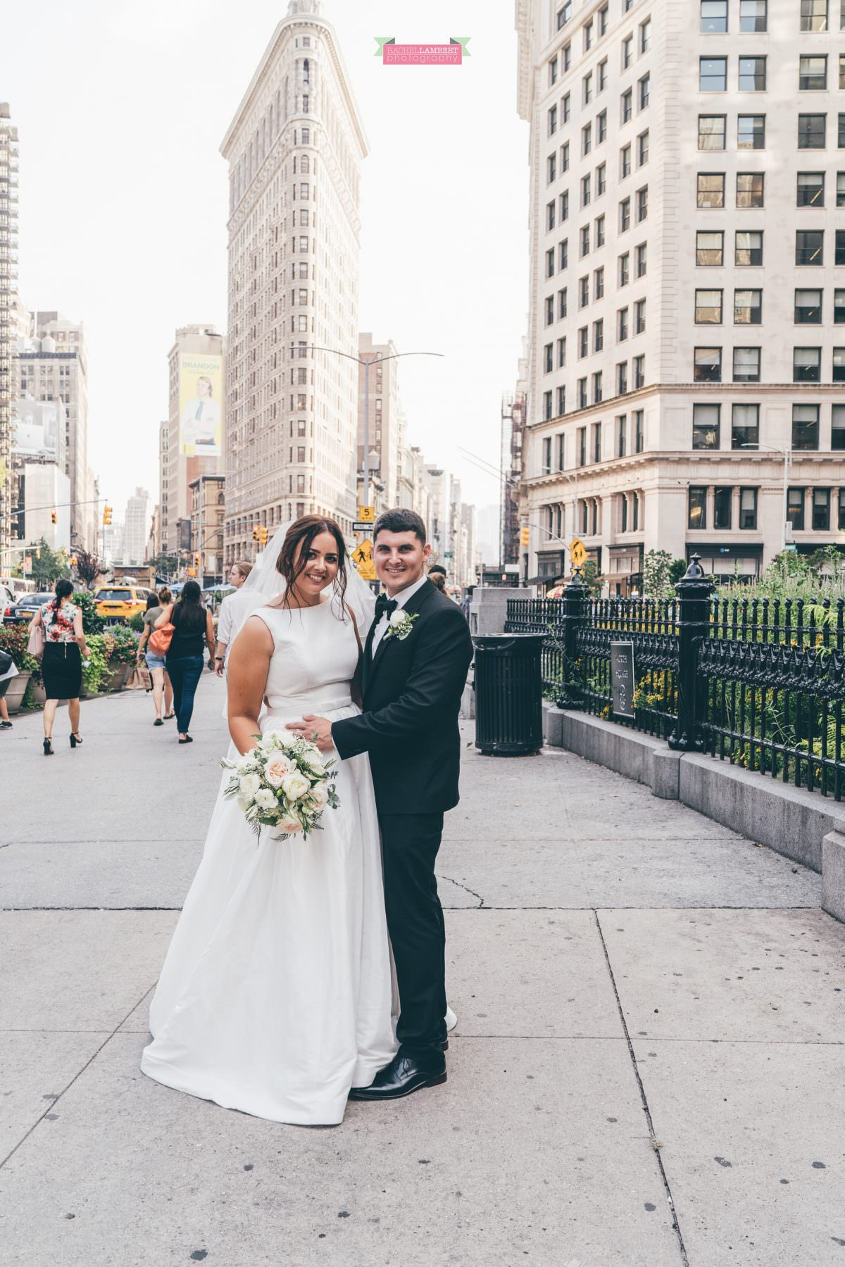 rachel lambert photography new york wedding photos bride and groom flatiron building