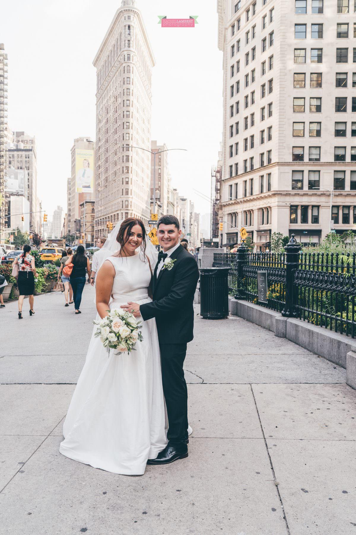 rachel lambert photography new york wedding photos bride and groom flatiron building