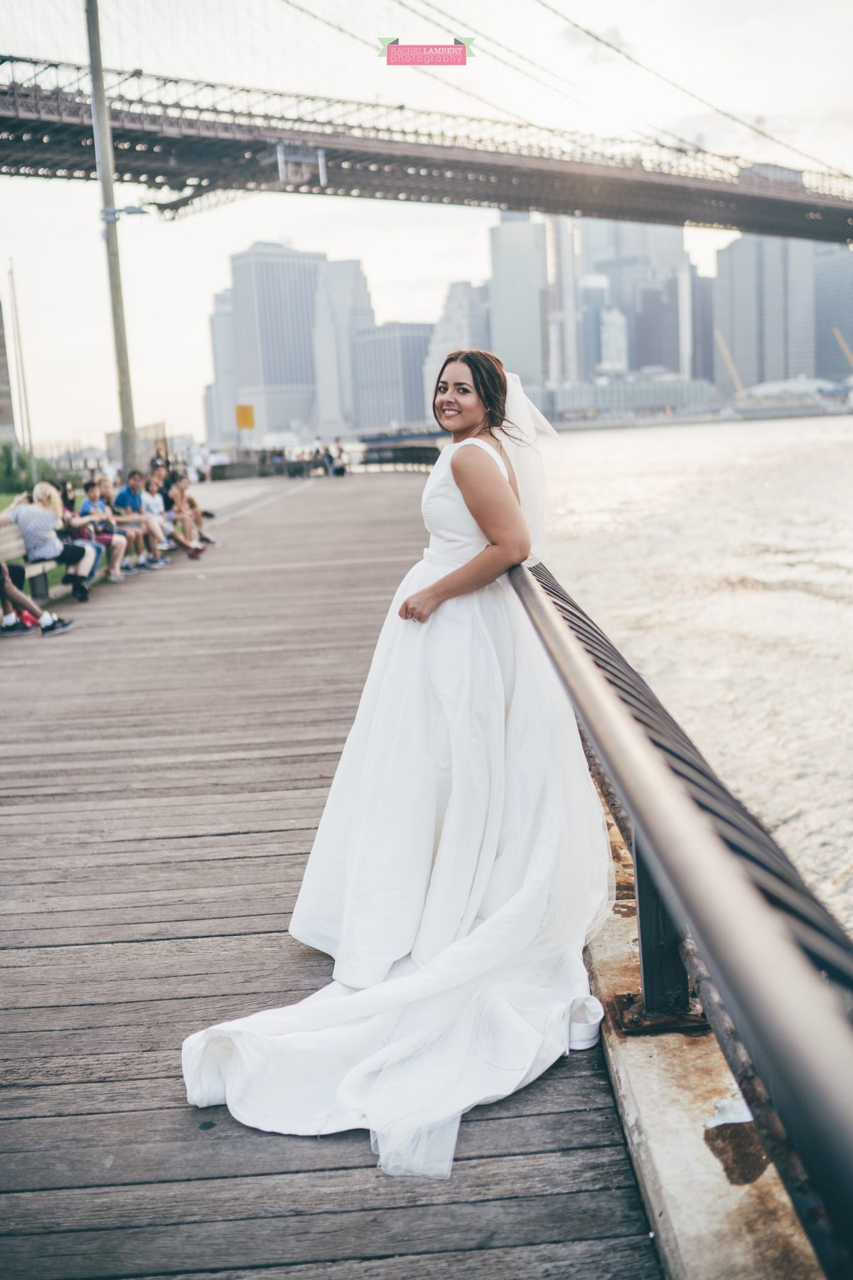 rachel lambert photography new york wedding photos bride brooklyn bridge