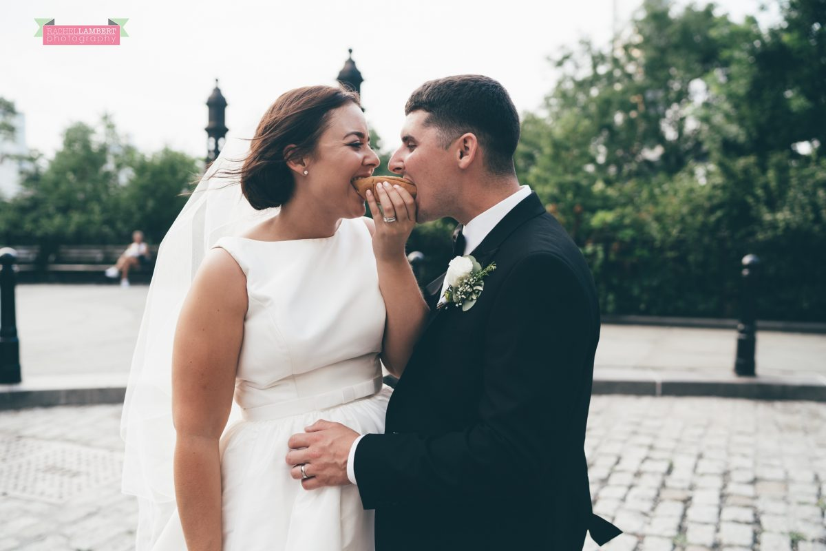 rachel lambert photography new york wedding photos bride and groom brooklyn bridge