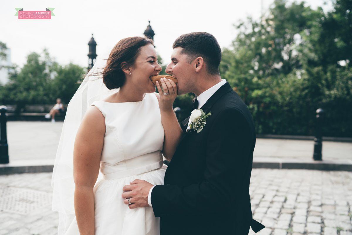 rachel lambert photography new york wedding photos bride and groom brooklyn bridge
