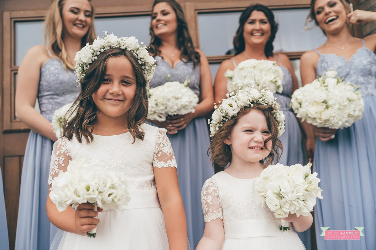 oldwalls wedding photographer flower girls