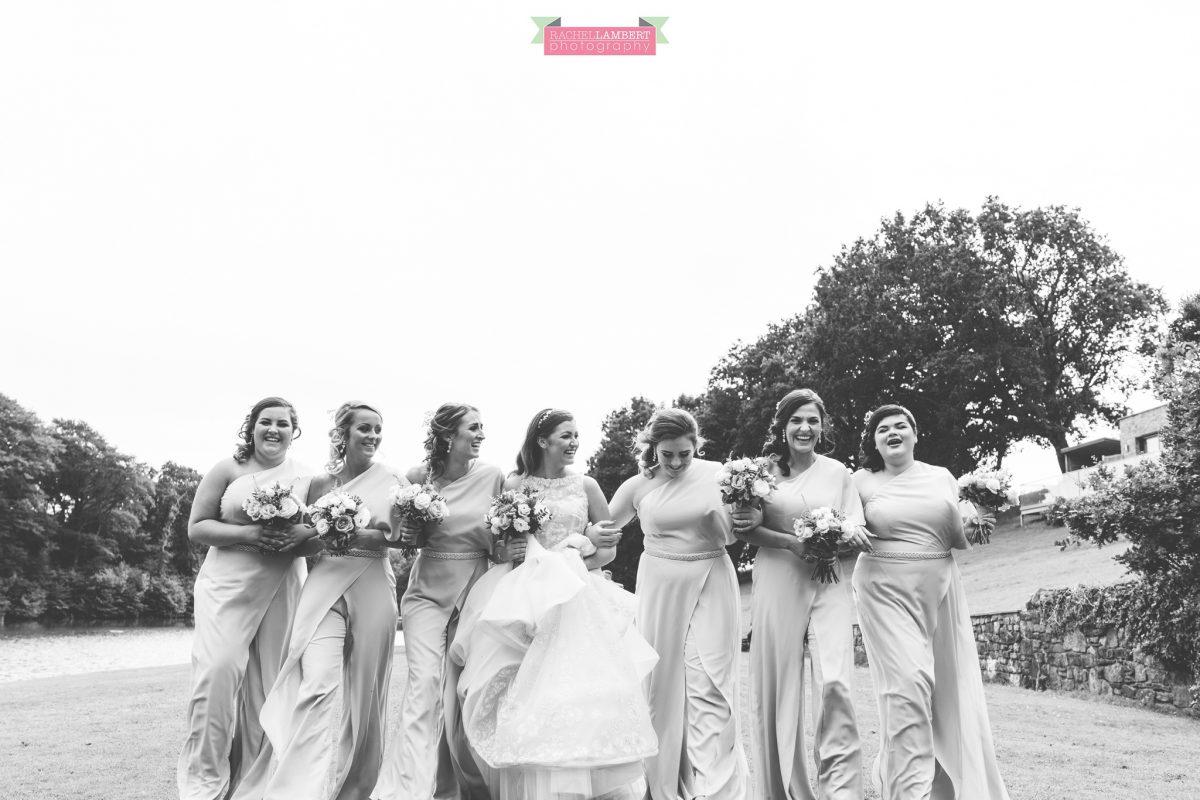 canada lake lodge bride and bridesmaids