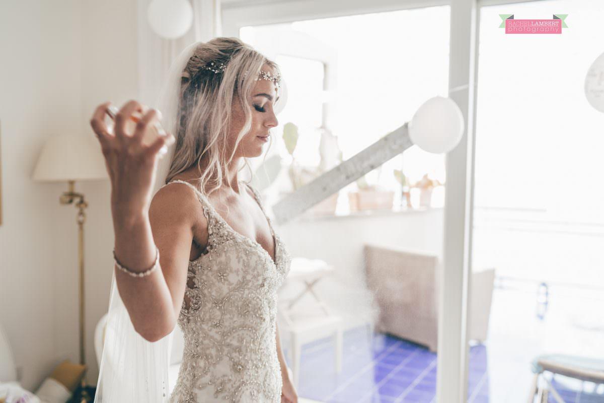 wedding photographer sorrento italy bride and groom chiostro di san francesco laura may bridal perfume