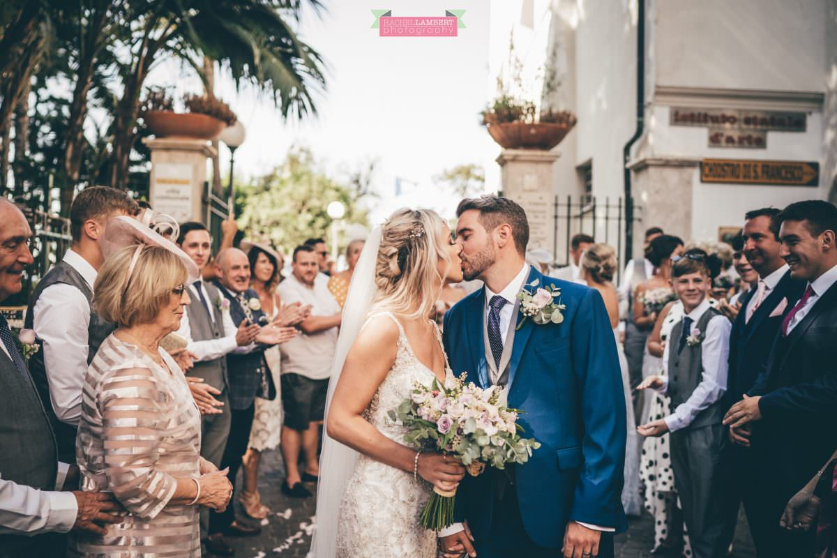 wedding photographer sorrento italy bride and groom chiostro di san francesco laura may bridal