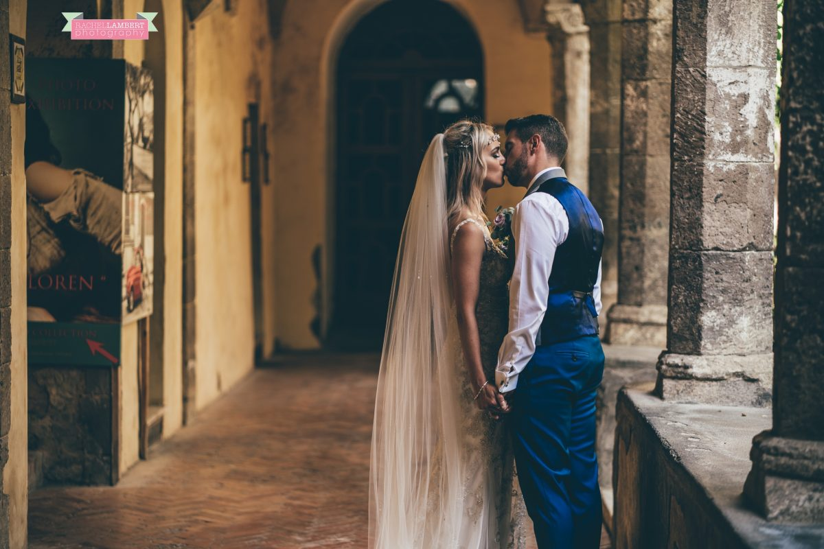 wedding photographer sorrento italy bride and groom chiostro di san francesco