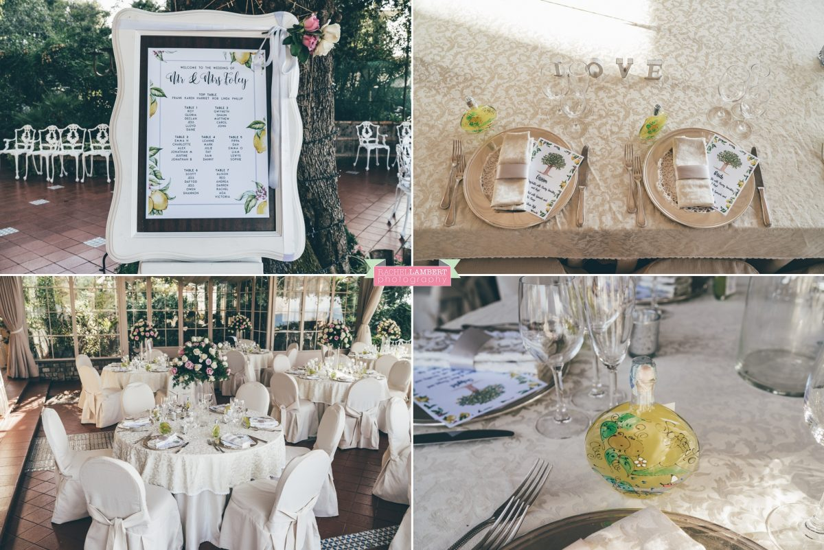 wedding photographer sorrento italy villa antiche mura bride and groom room decor