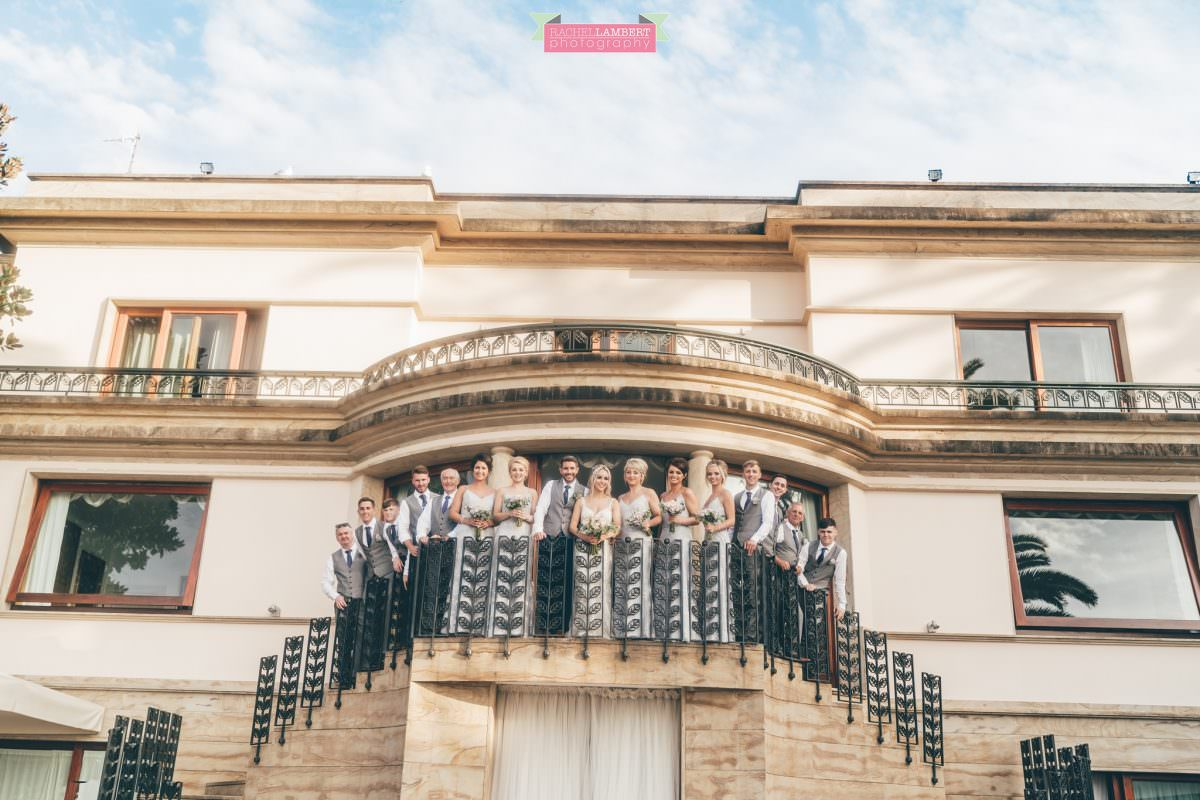 wedding photographer sorrento italy villa antiche mura bride and bridal party