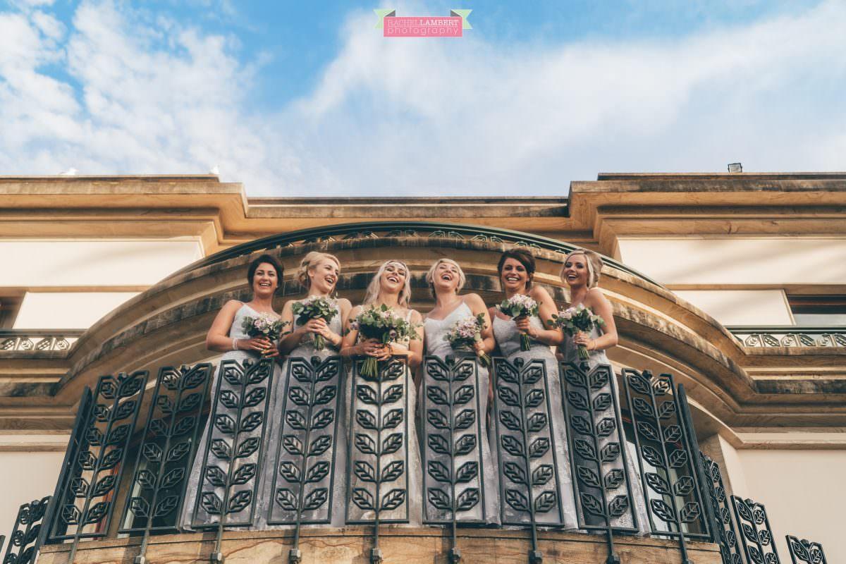 wedding photographer sorrento italy villa antiche mura bride and bridesmaids