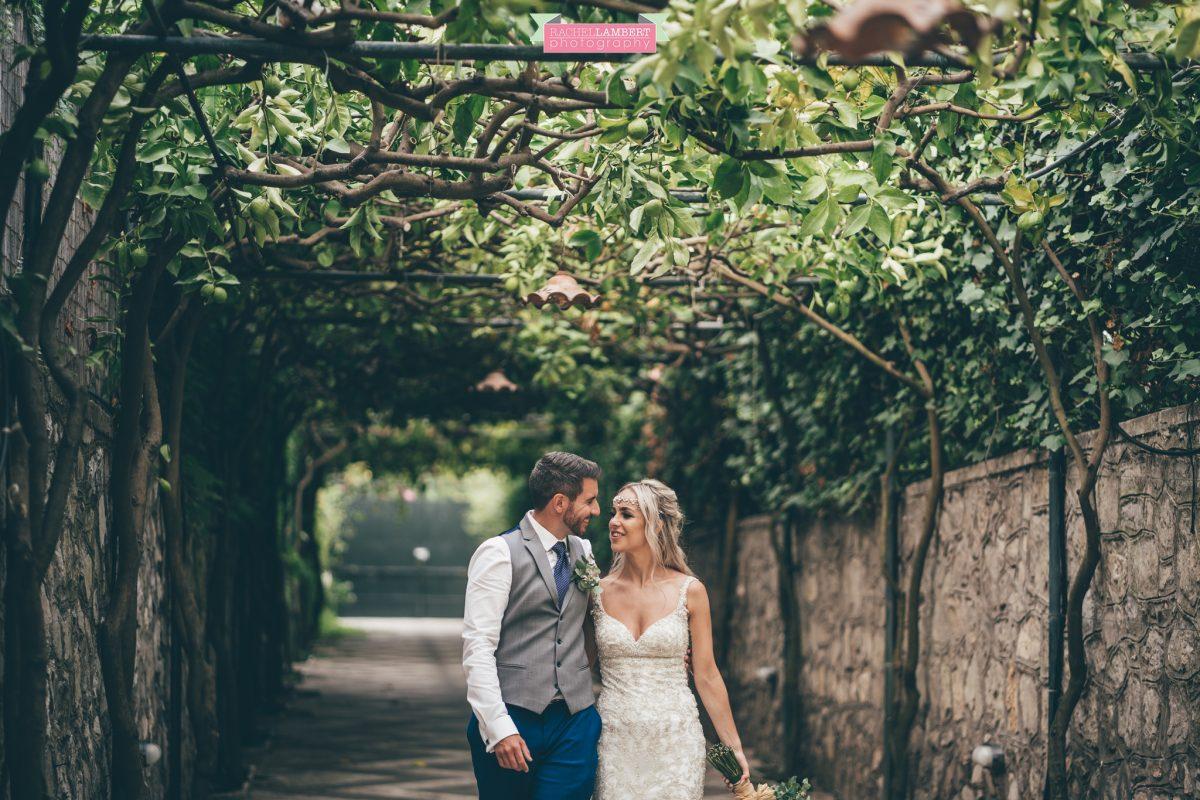 wedding photographer sorrento italy villa antiche mura bride and groom