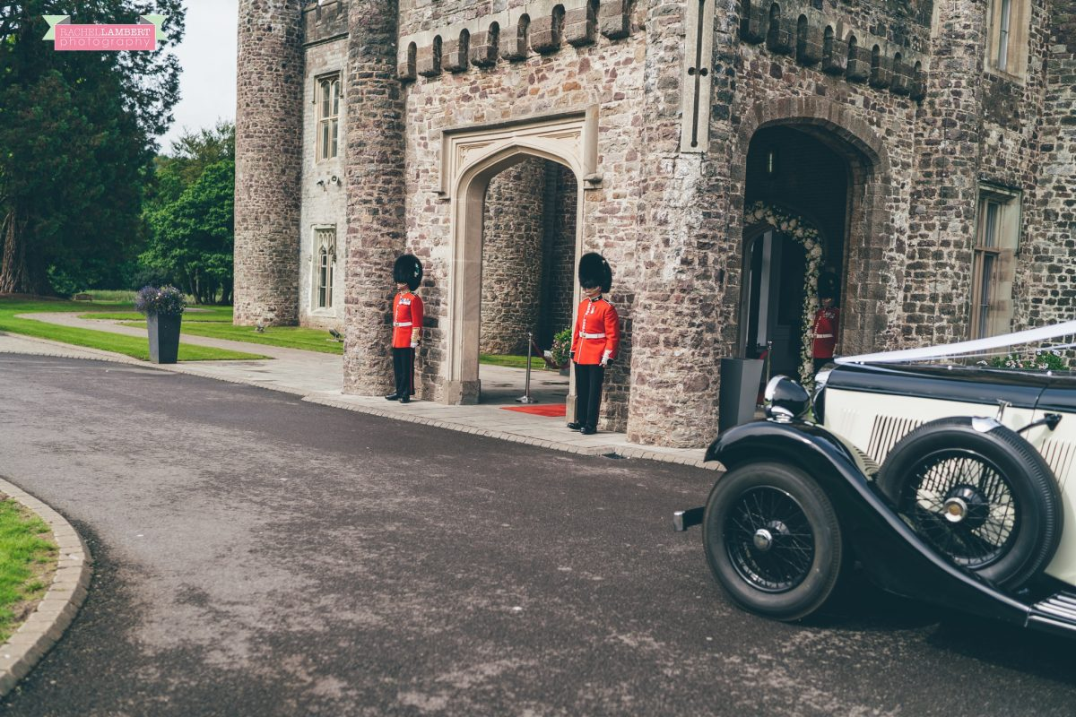 hensol castle wedding photographer guard of honour