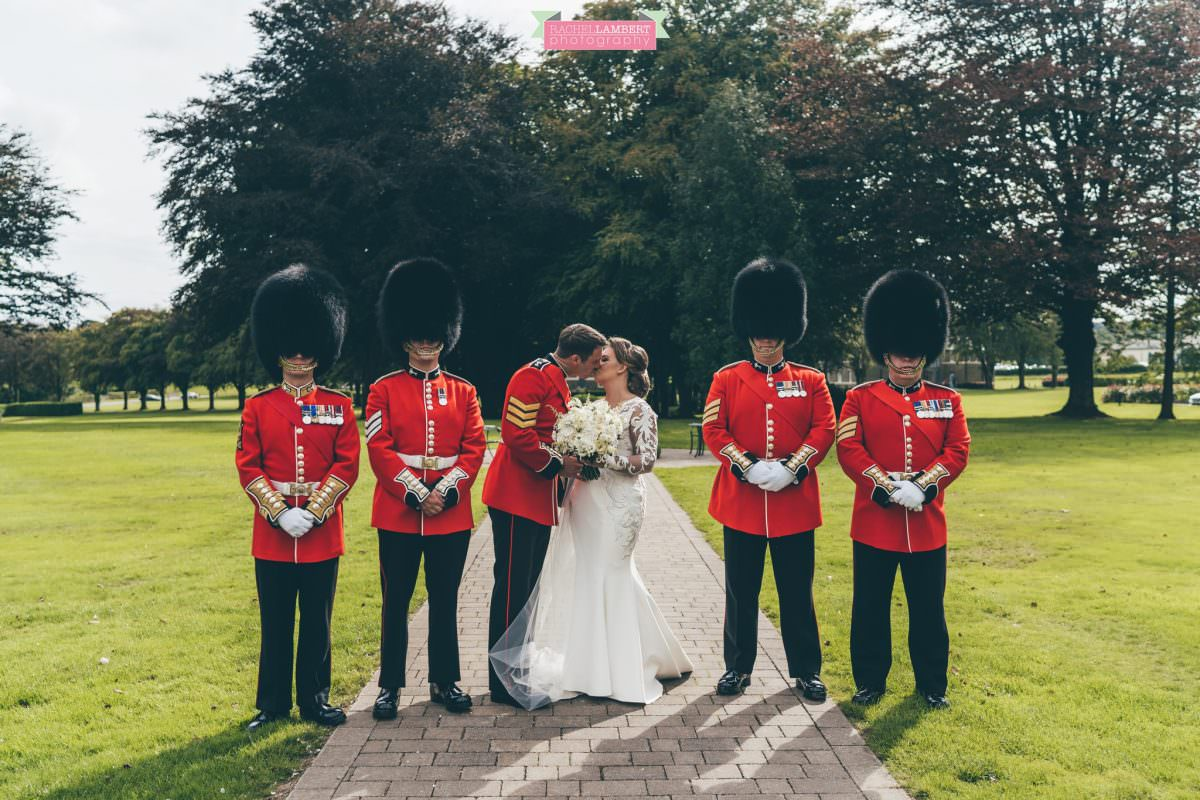 hensol castle wedding photographer bride and groom couple shots welsh royal guards