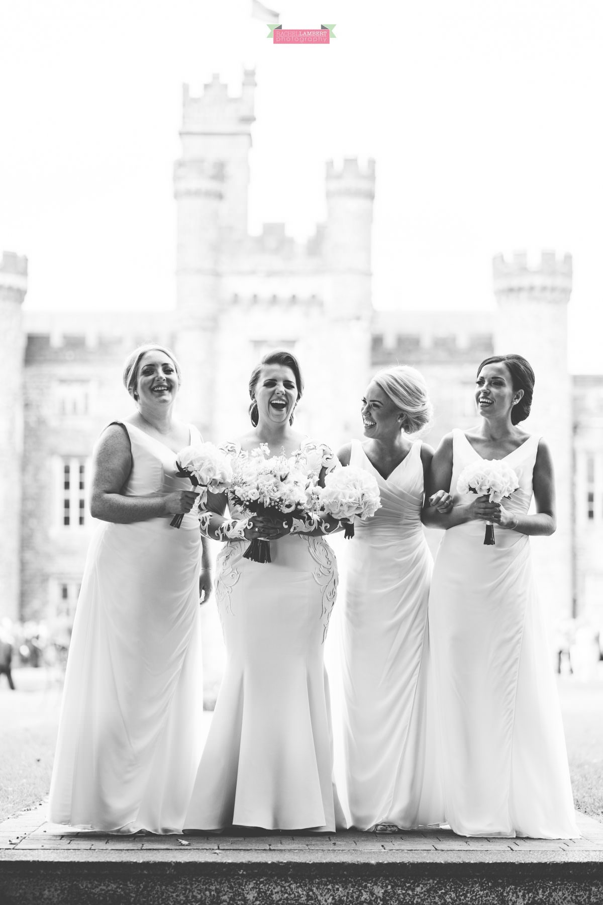 hensol castle wedding photographer bride and bridesmaids