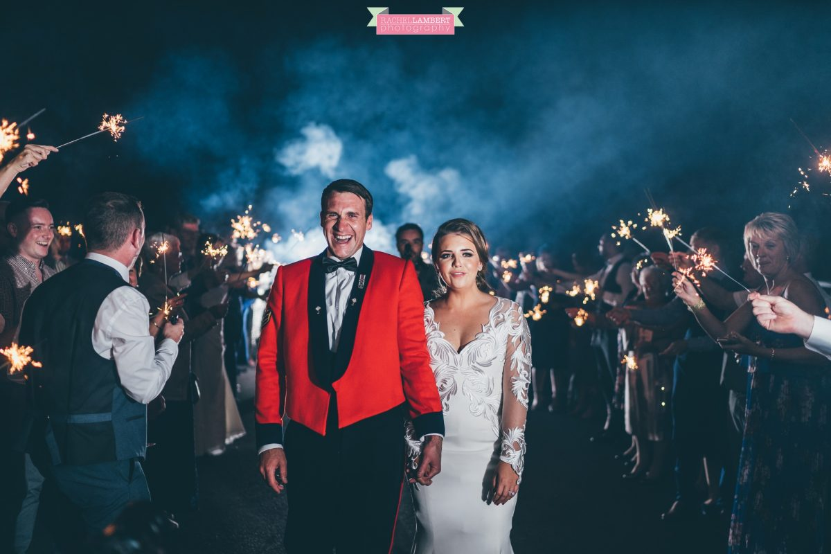 welsh wedding photographer at hensol castle sparkler shot