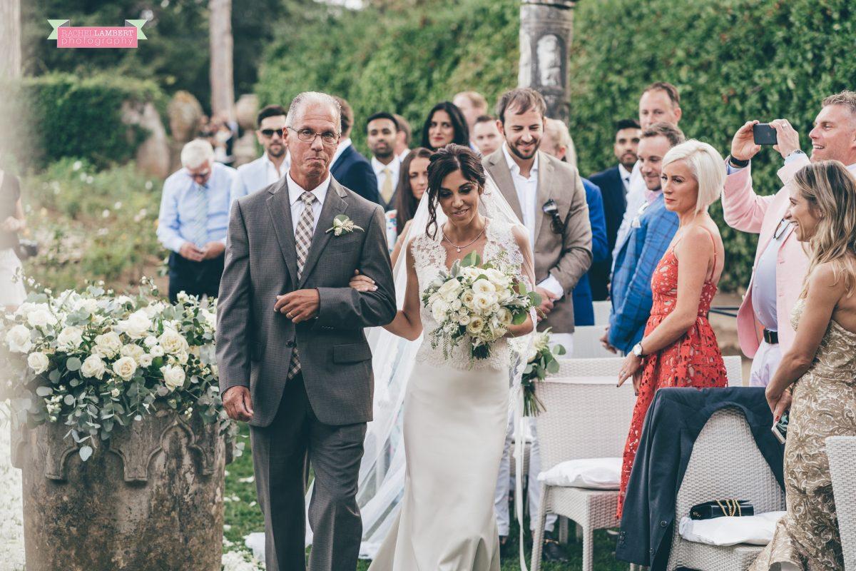 villa cimbrone ravello amalfi wedding photos bride arrival