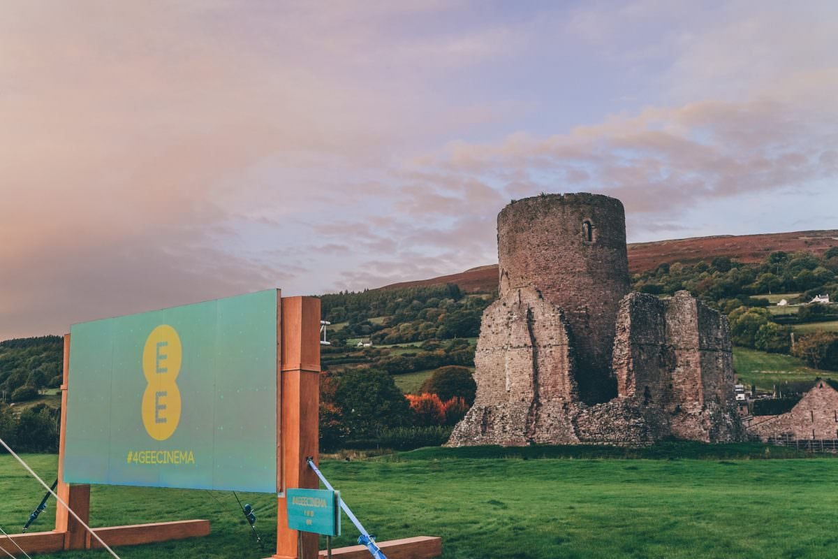 commercial photographer wales ee open air cinema event crickhowell