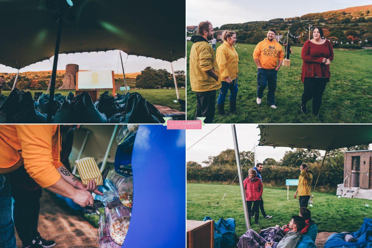 commercial photographer wales ee open air cinema event tretower castle crickhowell