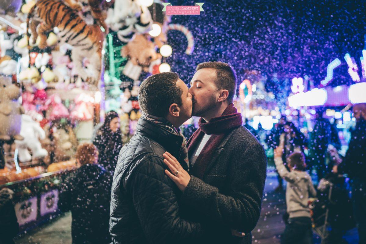 cardiff wedding photographer winter wonderland same sex couple