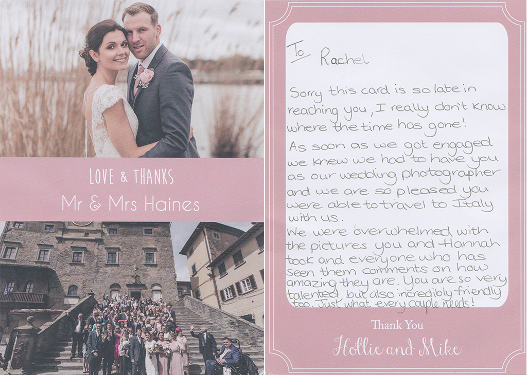 cardiff wedding photographer thank you cards