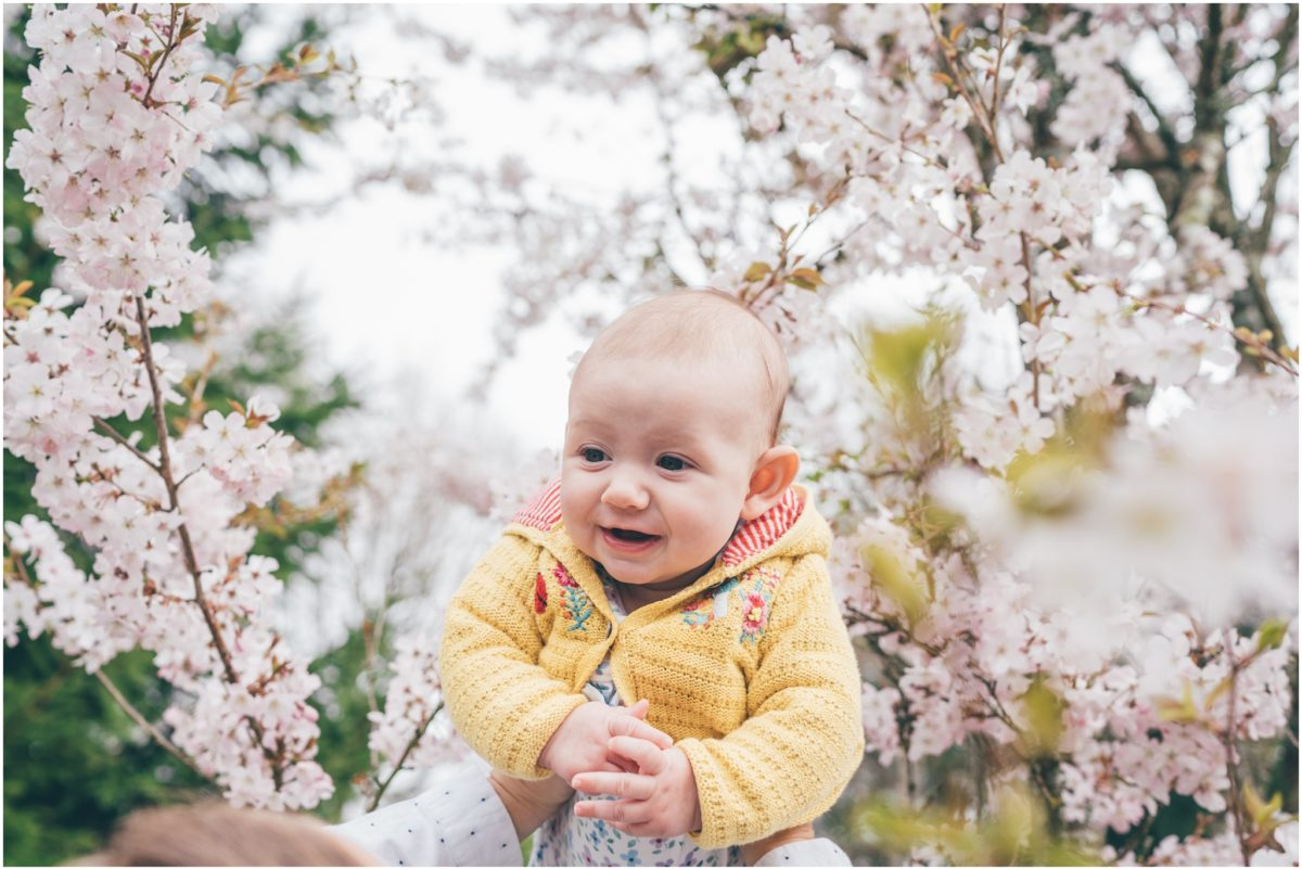lifestyle photographer cardiff wales rachel lambert photography baby cherry blossom