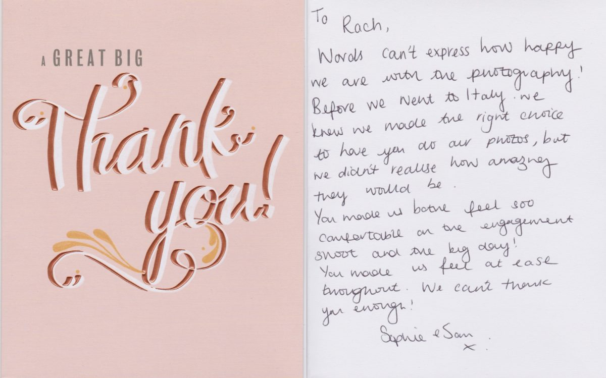 cardiff wedding photographer rachel lambert photography thank you cards love letters