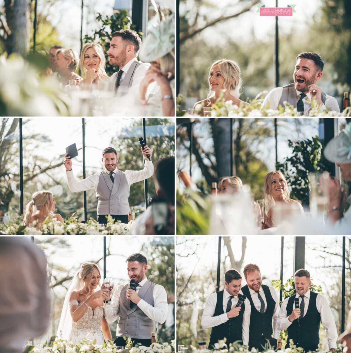fairyhill gower rachel lambert photography cardiff wedding photographer bride and groom speeches
