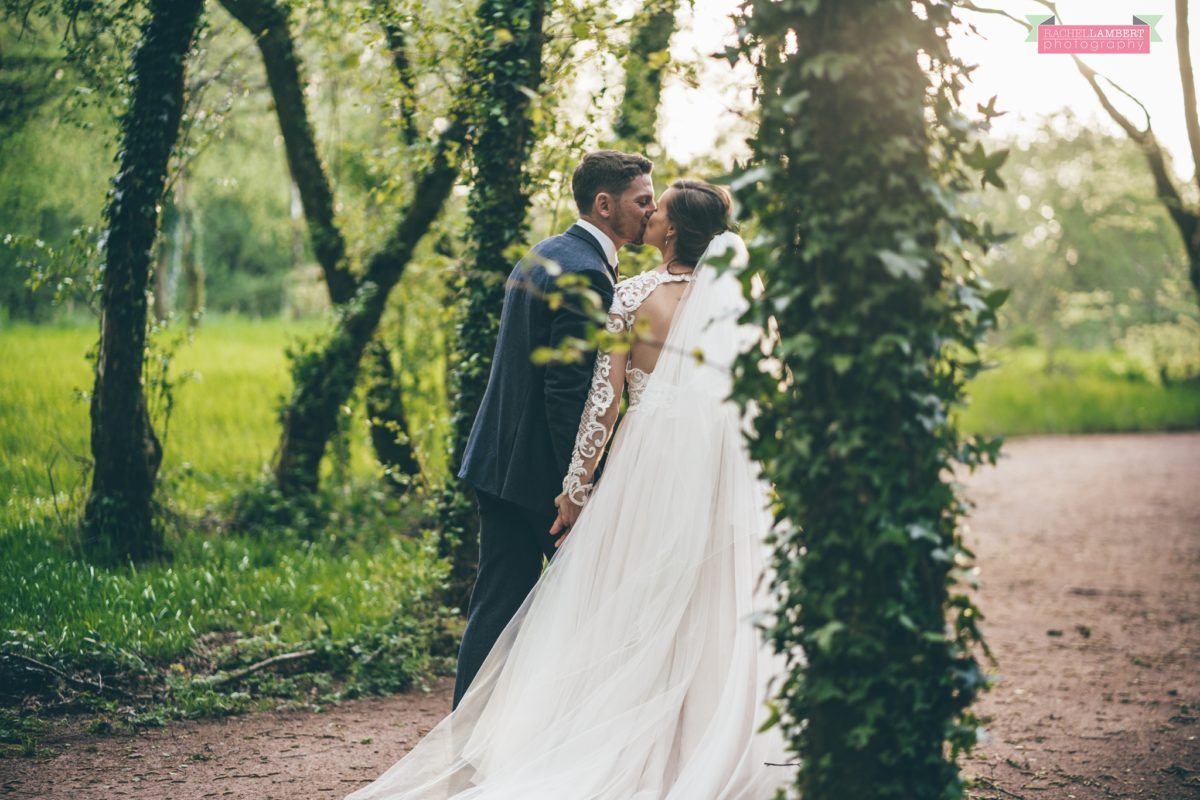 cardiff wedding photographer llanerch vineyard woodland walk couple shots
