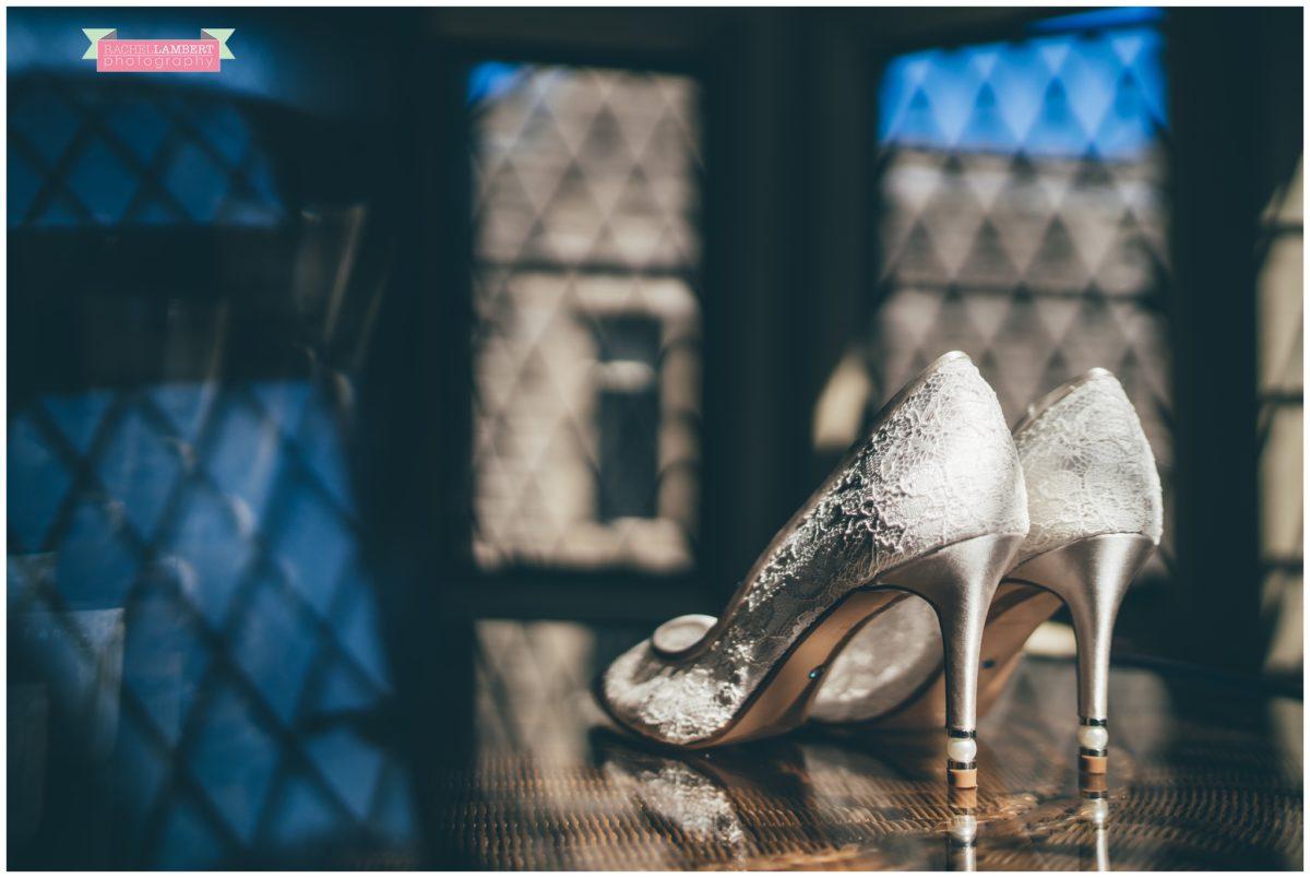 cardiff wedding photographer miskin manor rachel lambert photography bridal prep shoes