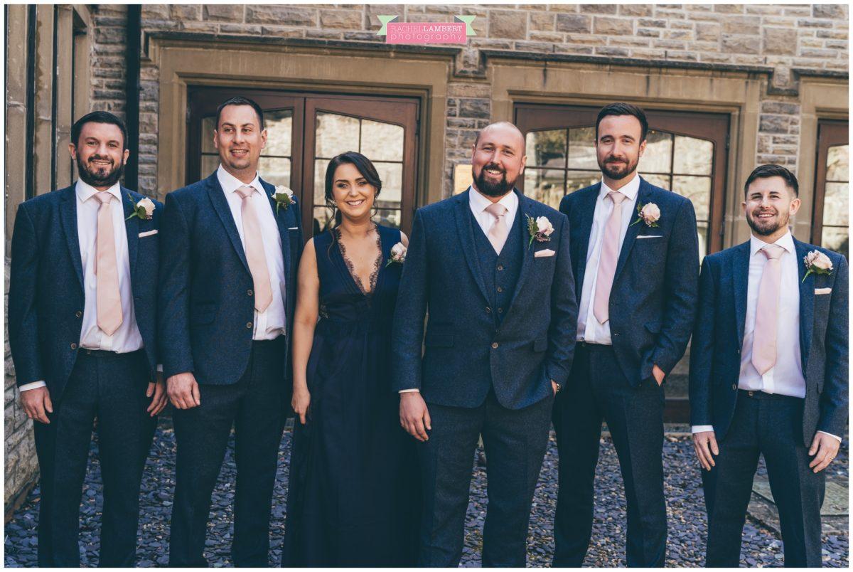 cardiff wedding photographer miskin manor rachel lambert photography groom and ushers best woman