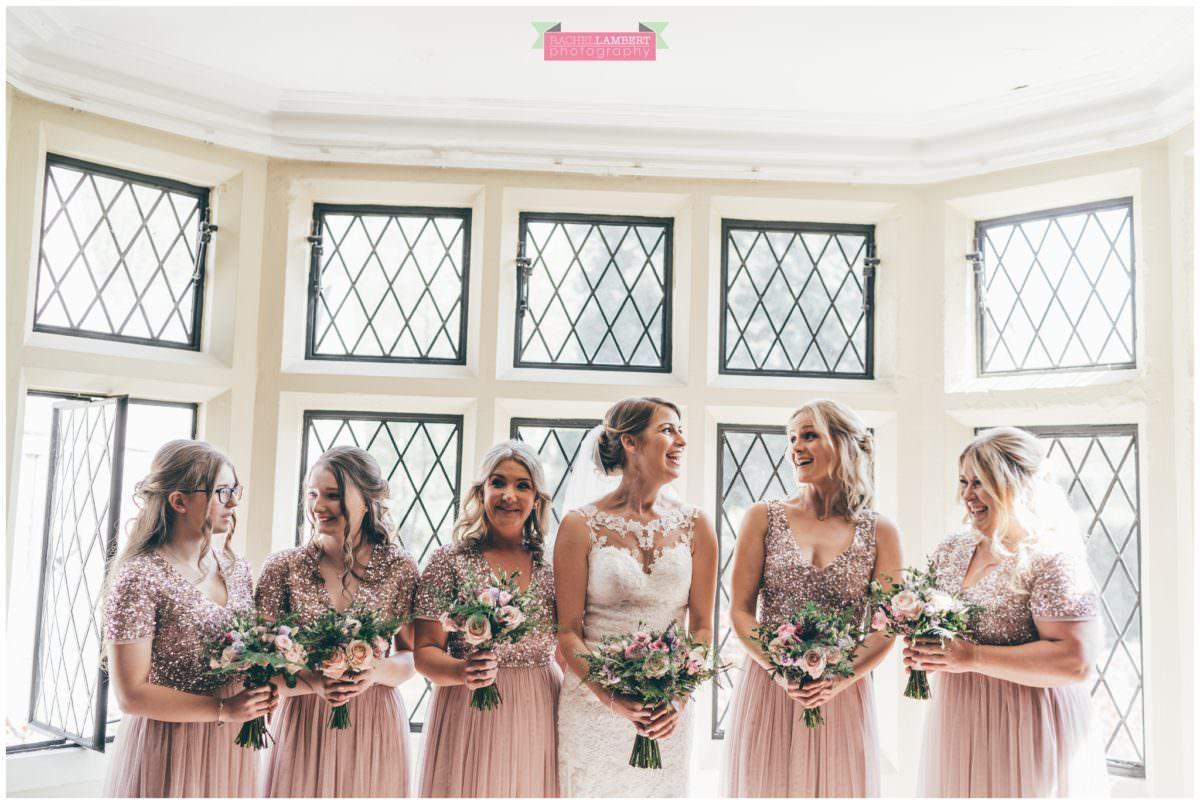cardiff wedding photographer miskin manor rachel lambert photography bride and bridesmaids