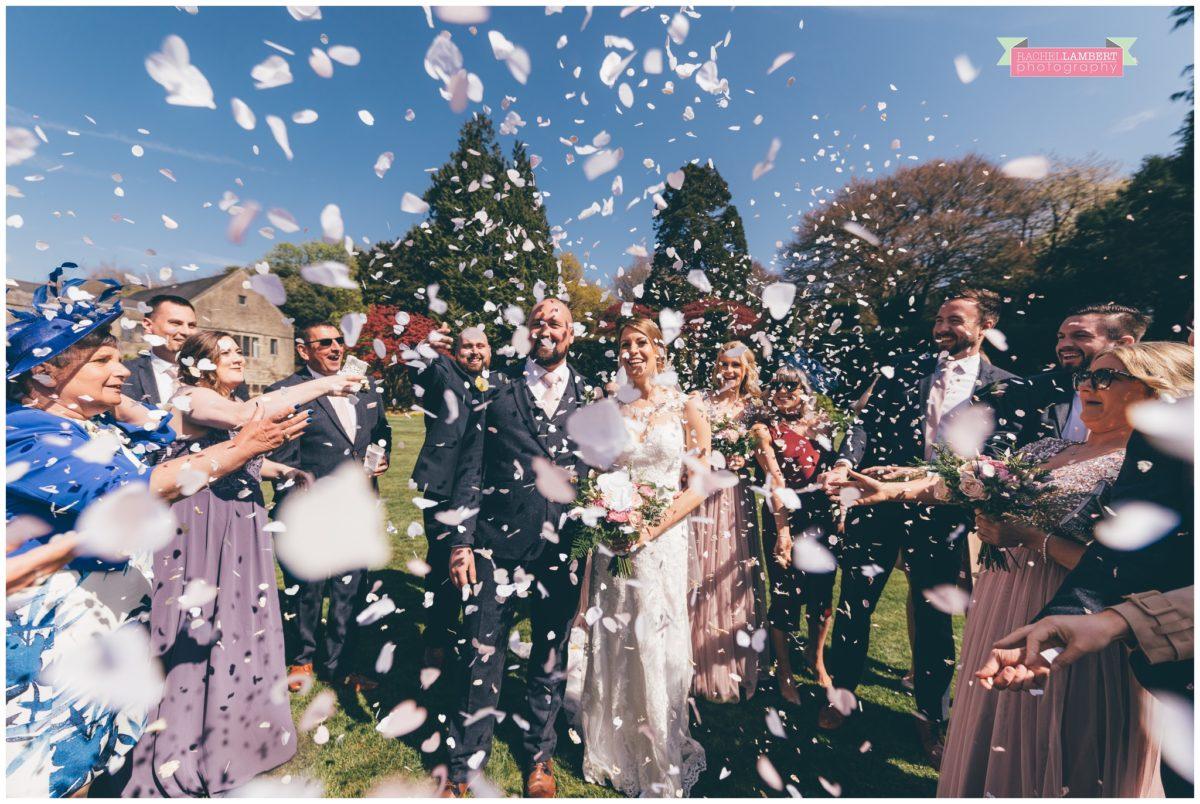 cardiff wedding photographer miskin manor rachel lambert photography confetti shot