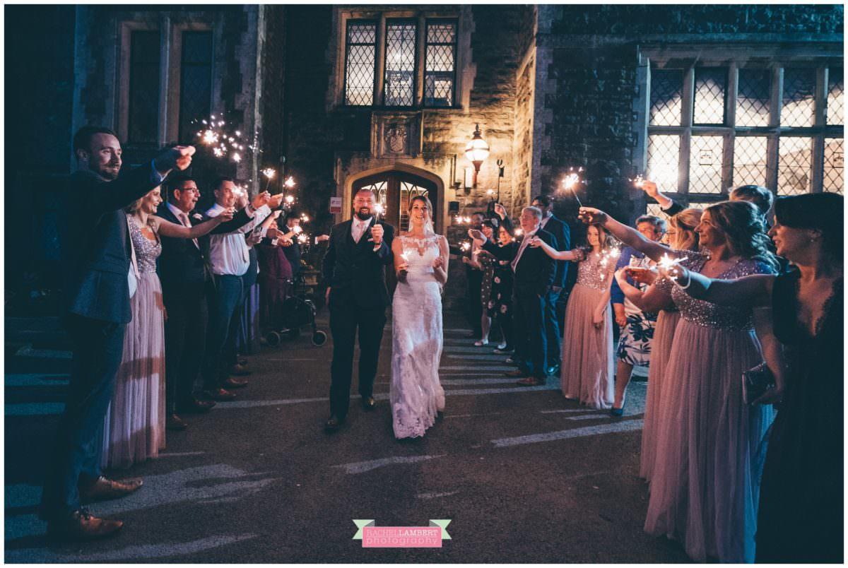 cardiff wedding photographer miskin manor rachel lambert photography sparklers