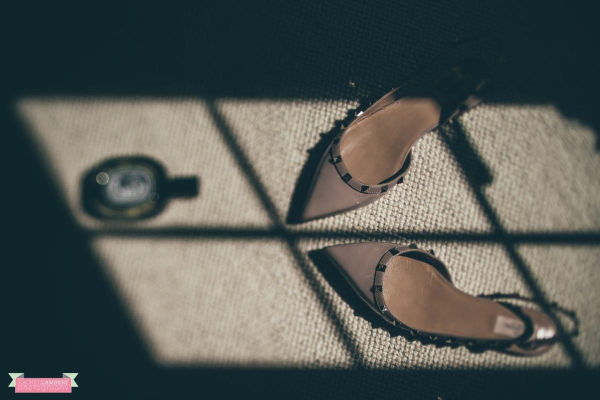 glanusk esate wedding rachel lambert photography bridal prep valentino shoes