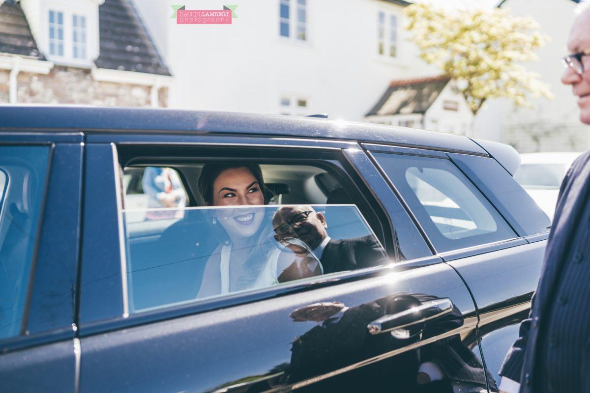 glanusk esate wedding rachel lambert photography st catwg's church llangatwg bride arriving