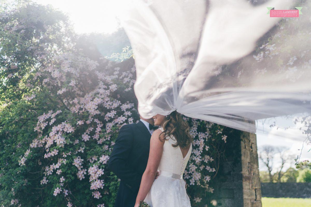 glanusk estate wedding rachel lambert photography bride and groom couple shots veil shot