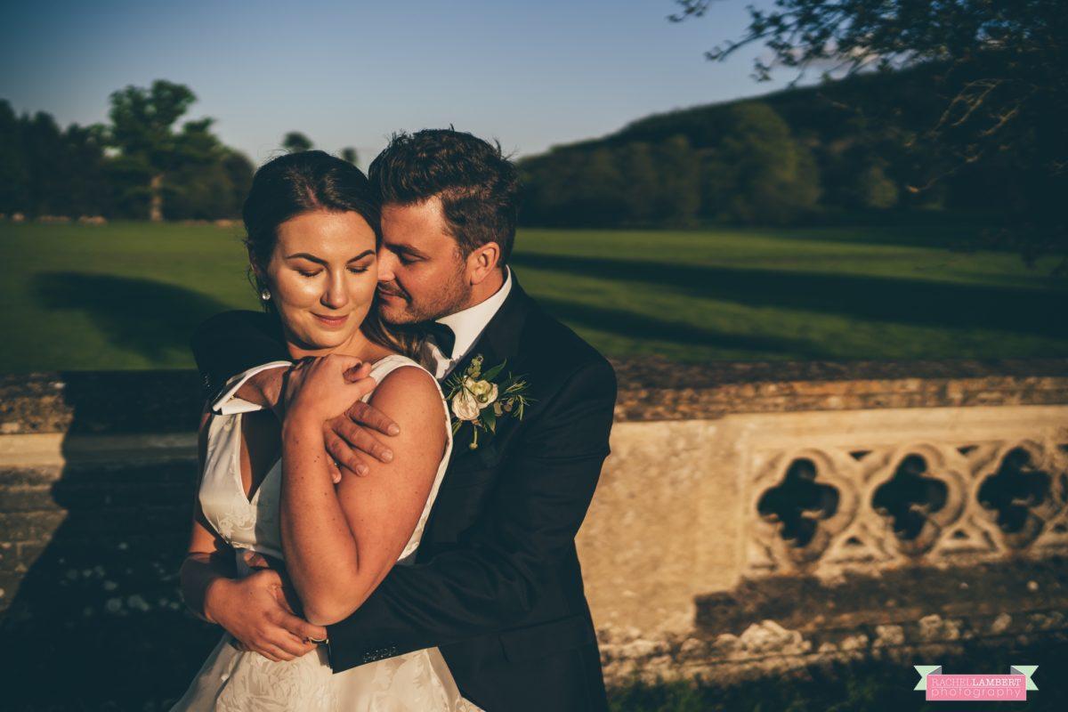 glanusk esate wedding rachel lambert photography bride and groom golden hour