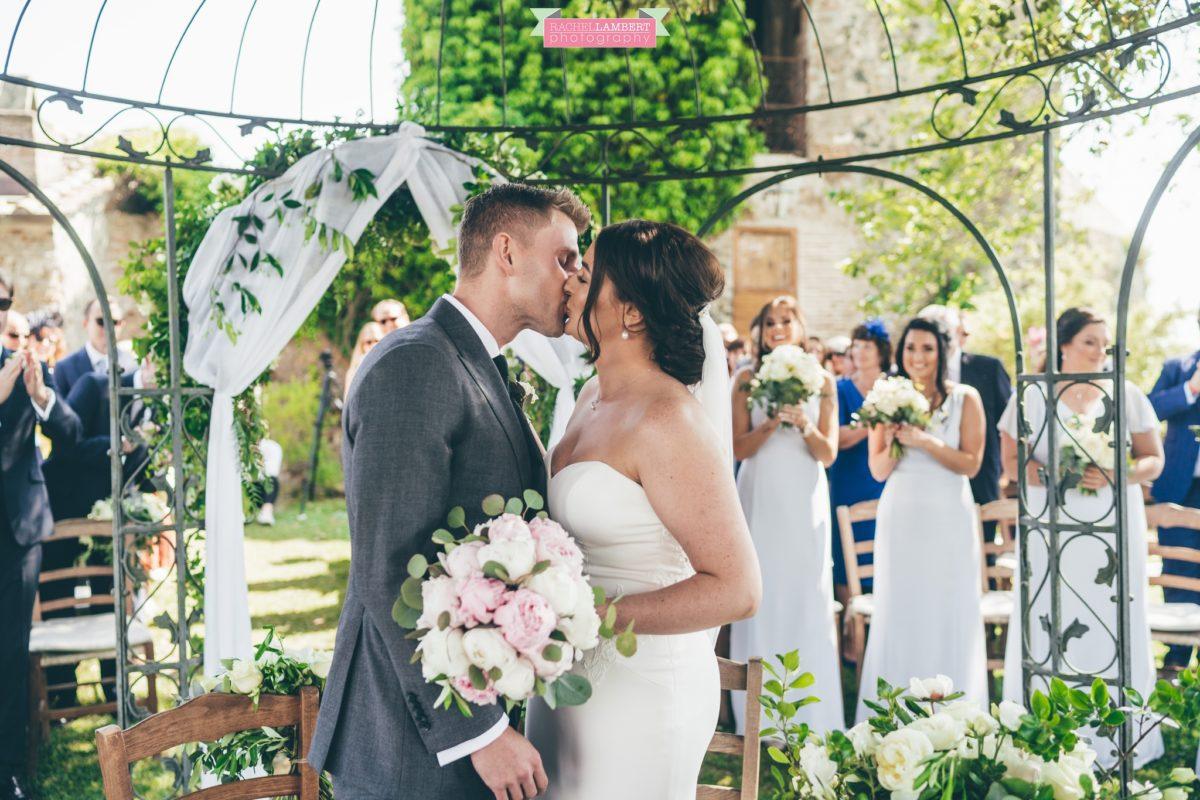rachel lambert photography destination wedding photographer Borgo di Tragliata rome italy first kiss