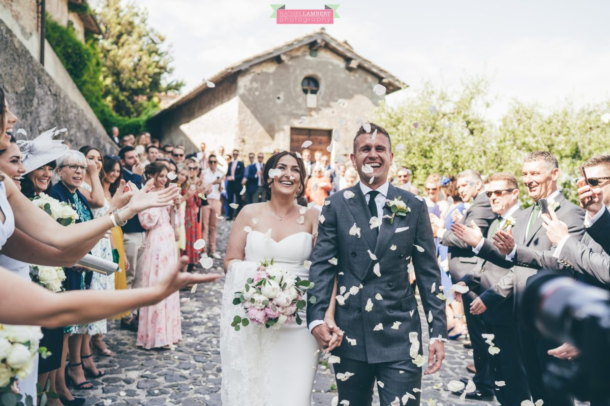 rachel lambert photography destination wedding photographer Borgo di Tragliata rome italy confetti