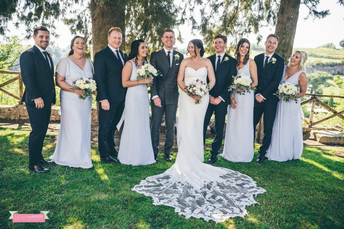 rachel lambert photography destination wedding photographer Borgo di Tragliata rome italy bridal party