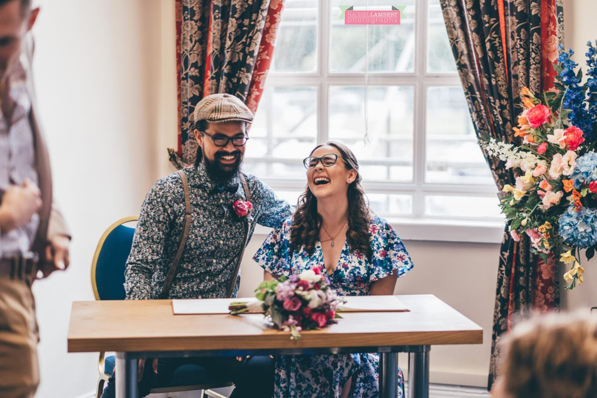 city hall cardiff wedding photographer rachel lambert photography bride and groom ceremony