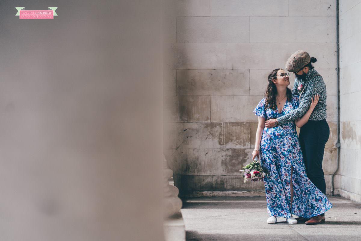 city hall cardiff wedding photographer rachel lambert photography bride and groom