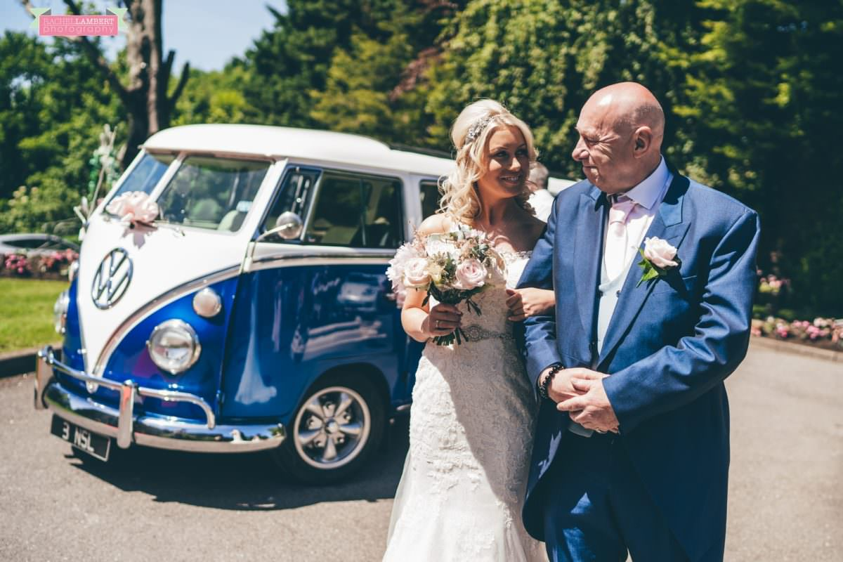 rachel lambert photography decourcey's manor wedding photographer bride and dad