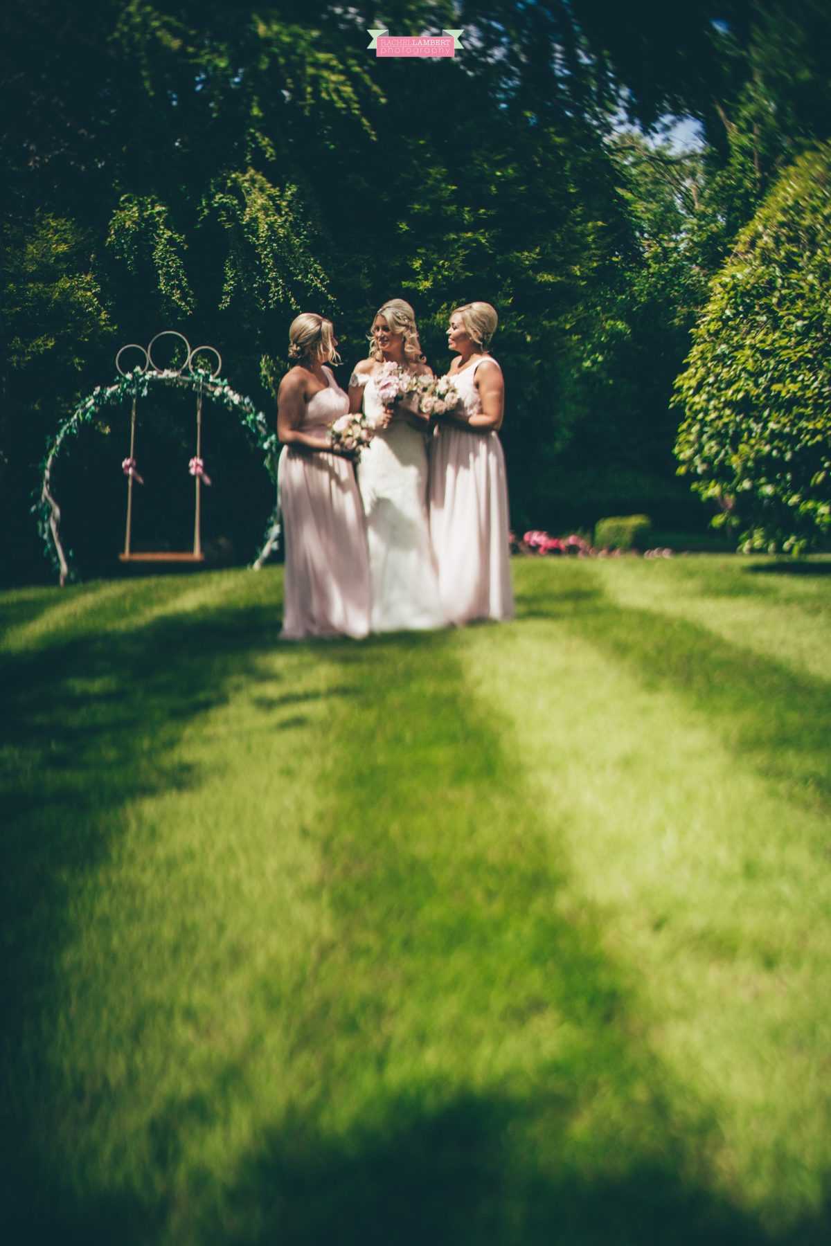 rachel lambert photography decourcey's manor wedding photographer bride and bridesmaids