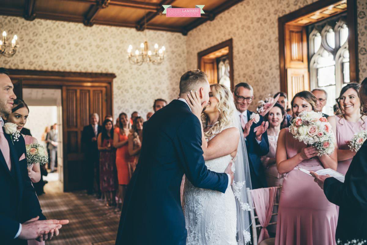 hensol caslte weddings rachel lambert photography bride and groom ceremony