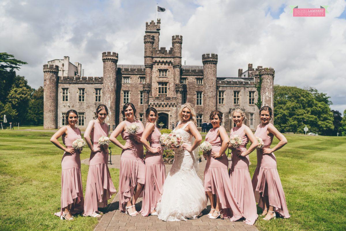 hensol caslte weddings rachel lambert photography bride and bridesmaids