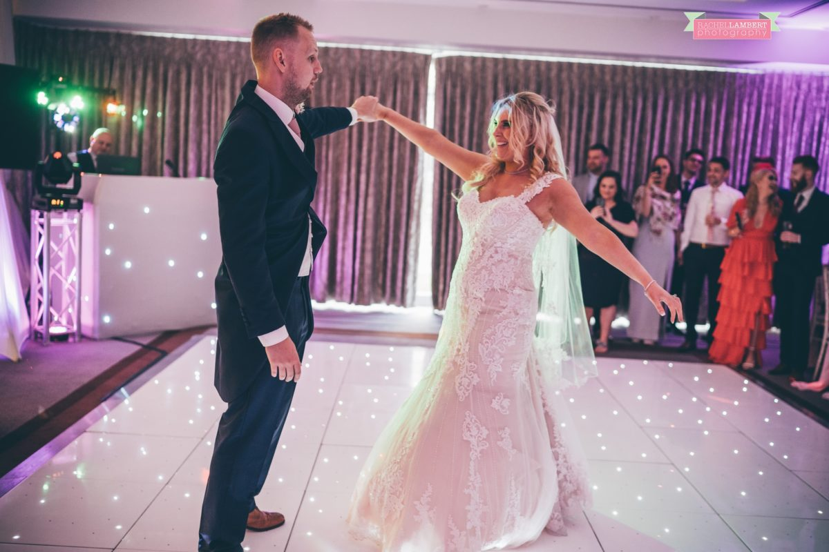 hensol caslte weddings rachel lambert photography bride and groom first dance