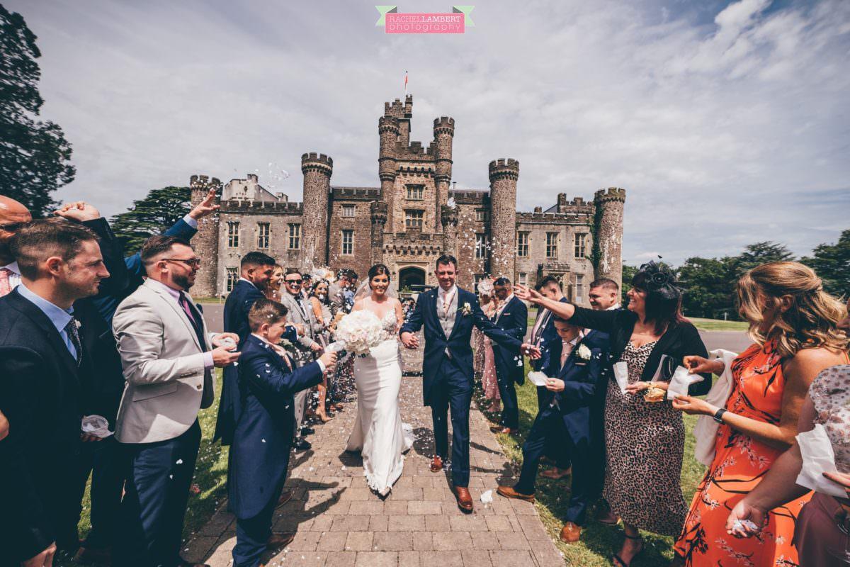 cardiff wedding photographer hensol castle weddings rachel lambert photography confetti shot